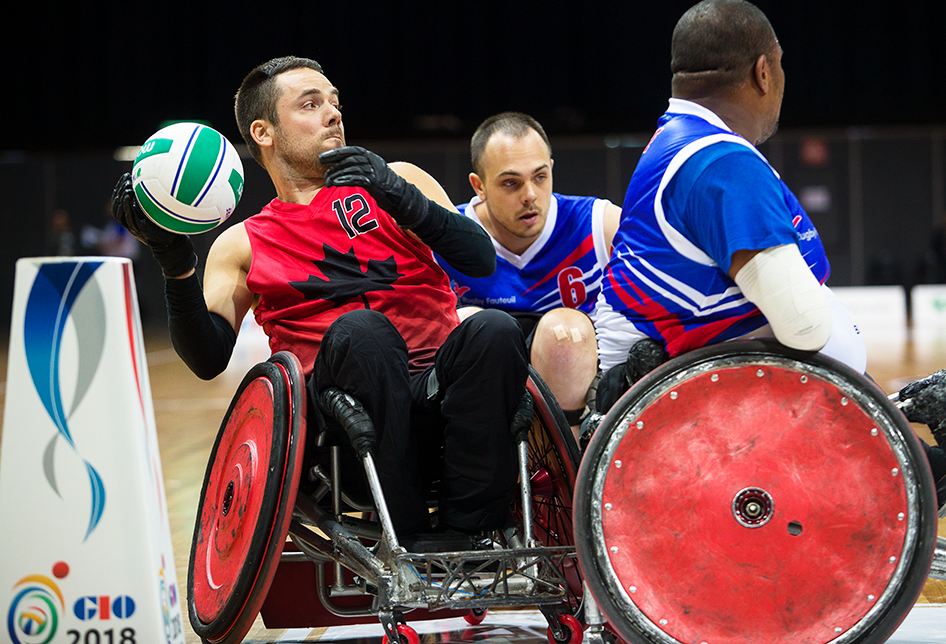 Patrice Dagenais in wheelchair rugby world championships action