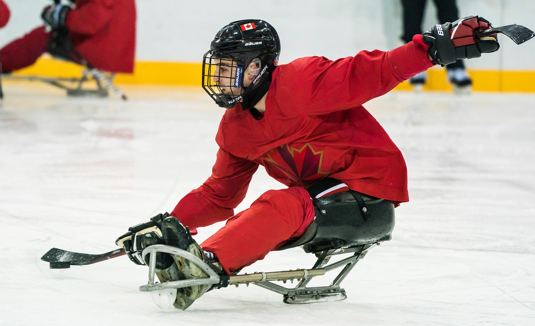 Focus On Para Equipment Trying Out A Para Ice Hockey Sled