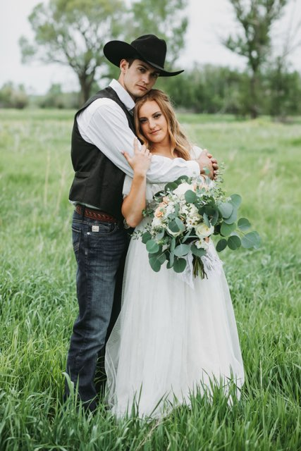 Sitting volleyball player Payden Vair (formerly Olsen) with her new husband Carson.