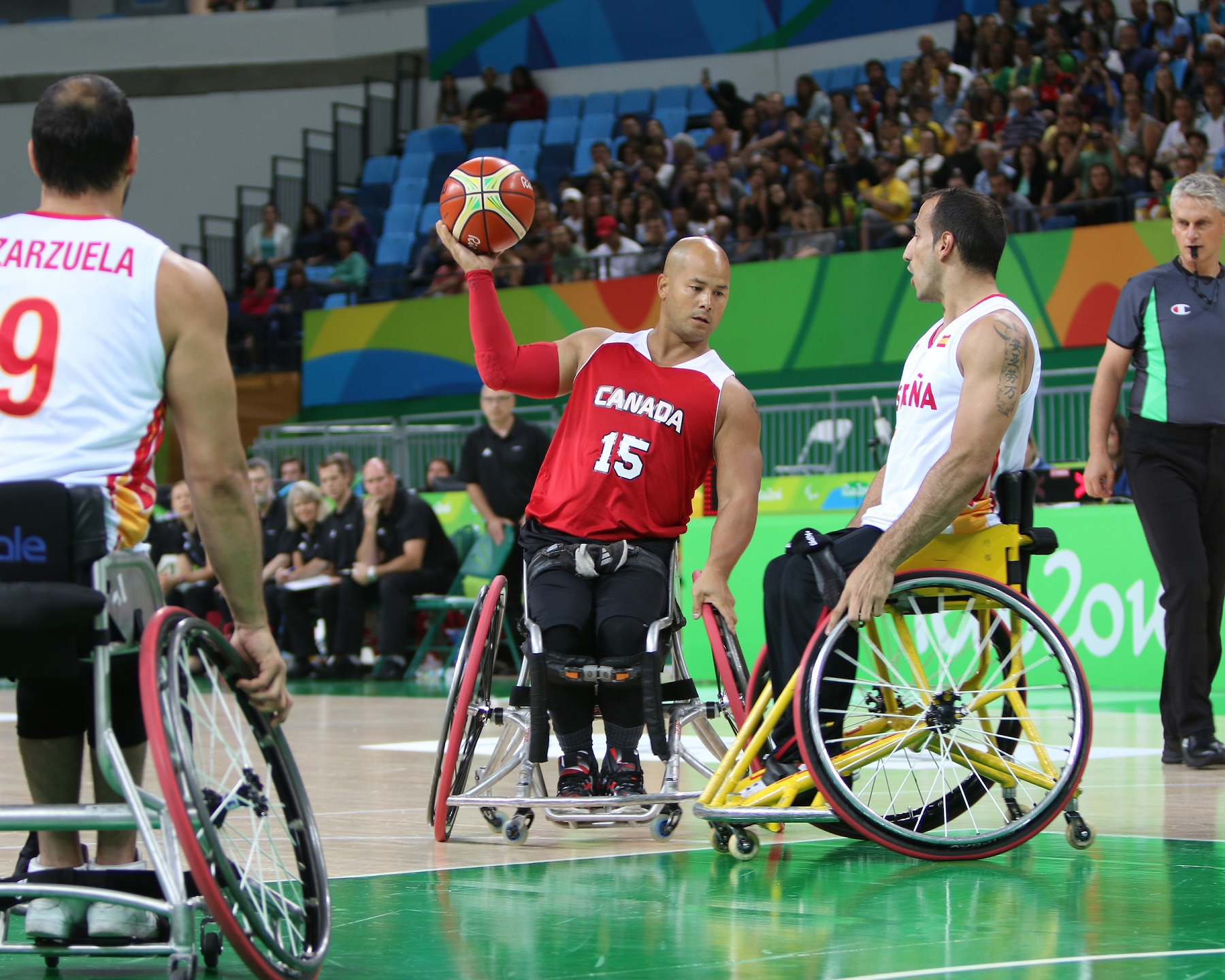 David Eng competes in wheelchair basketball at the Rio 2016 Paralympic Games.
