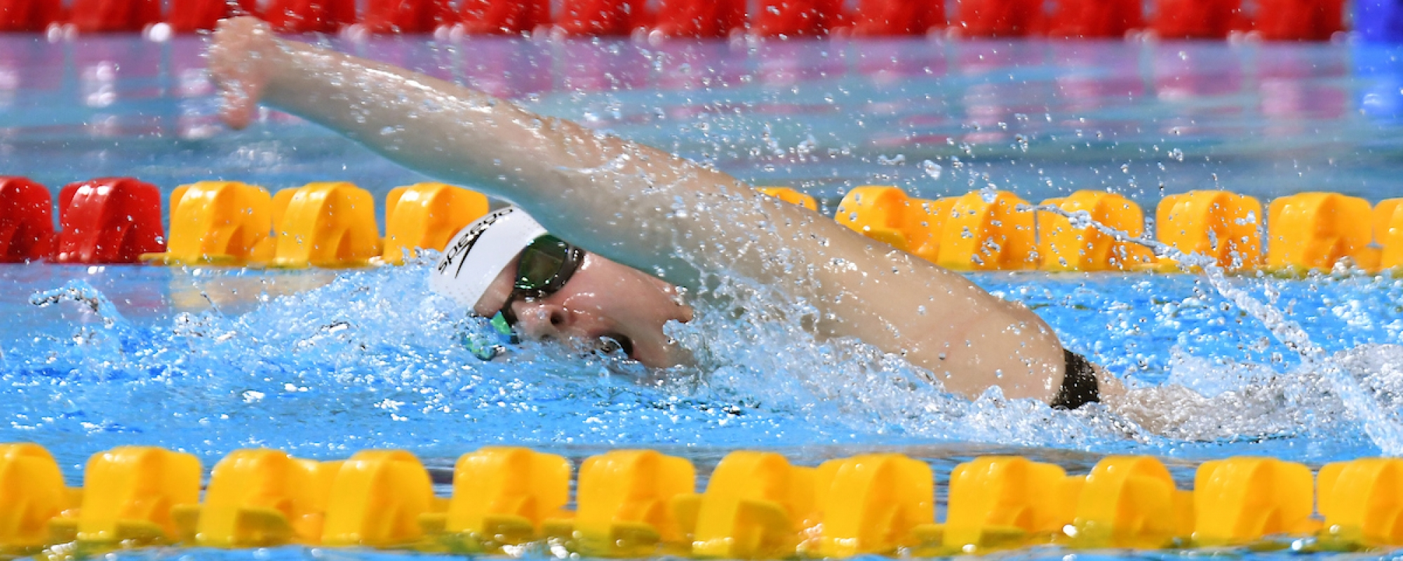 Arianna Hunsicker swims at the Parapan Ams in Lima