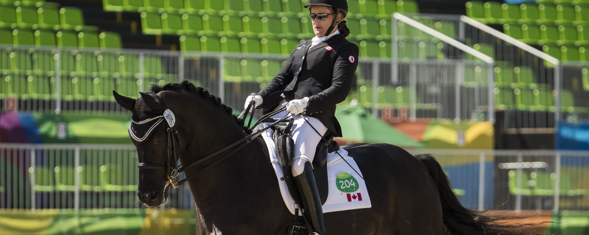 Lauren on her horse in Rio