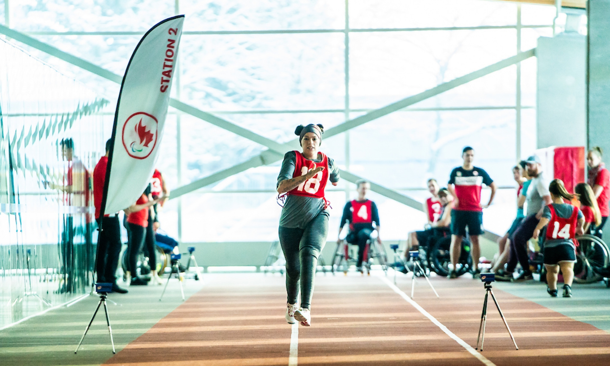athlete racing at the Paralympian Search