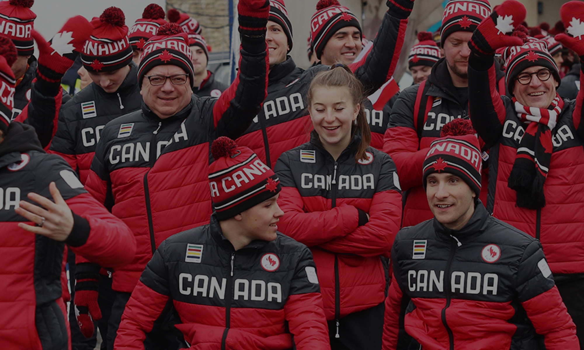 Canadian Team Walking into the stadium in PyeongChang