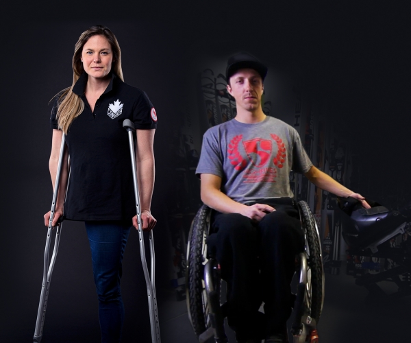 An image of Stephanie Dixon and Josh Dueck with a black background