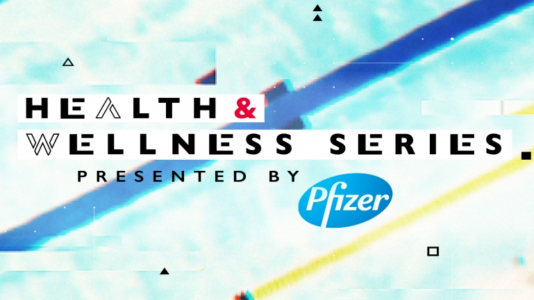 Health and Wellness Series text over blurred lanes in a pool