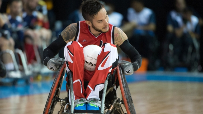 Trevor Hirschfield competes for Canada at the Toronto 2015 Parapan Am Games.