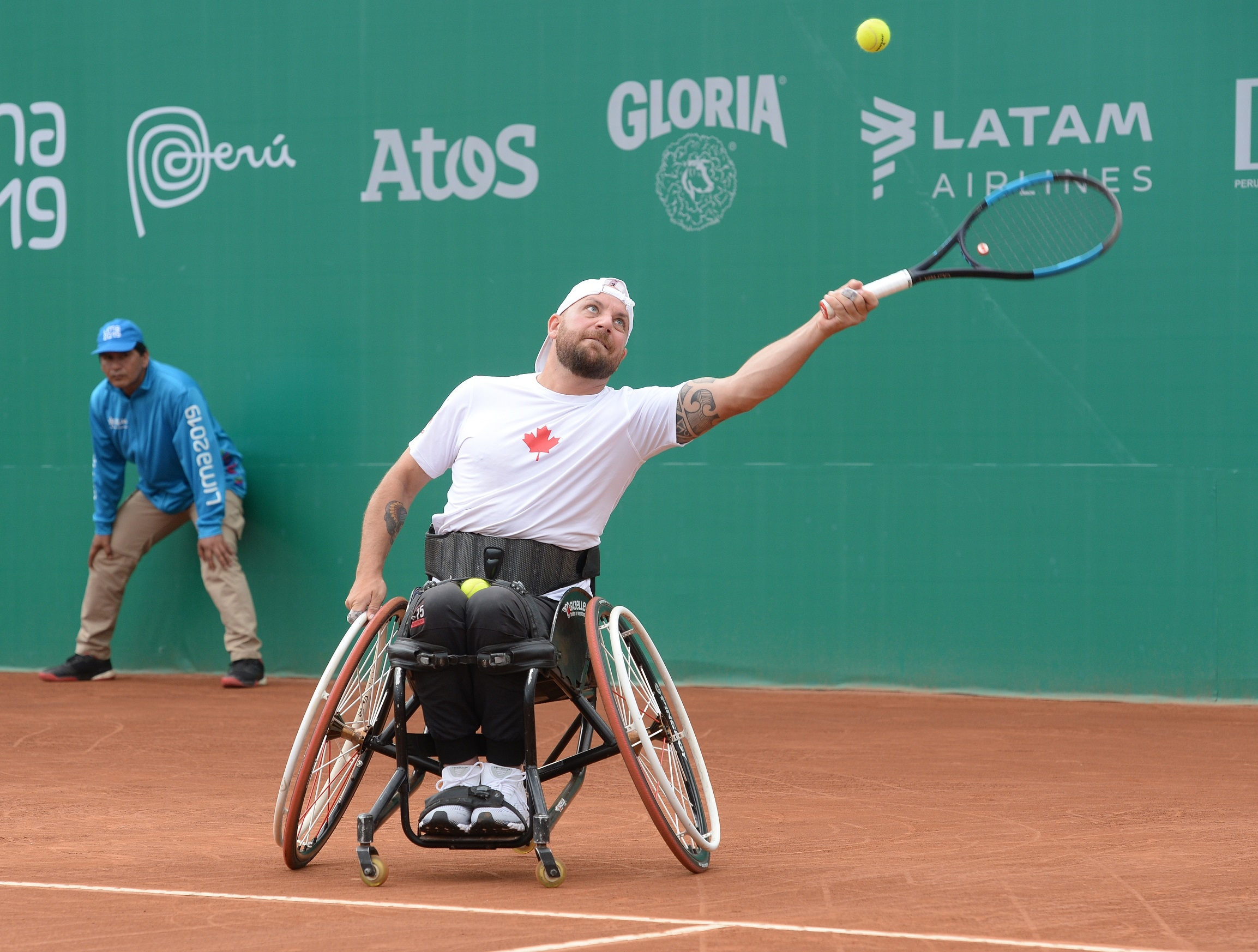 Mitch McIntyre in action at the Lima 2019 Parapan Am Games