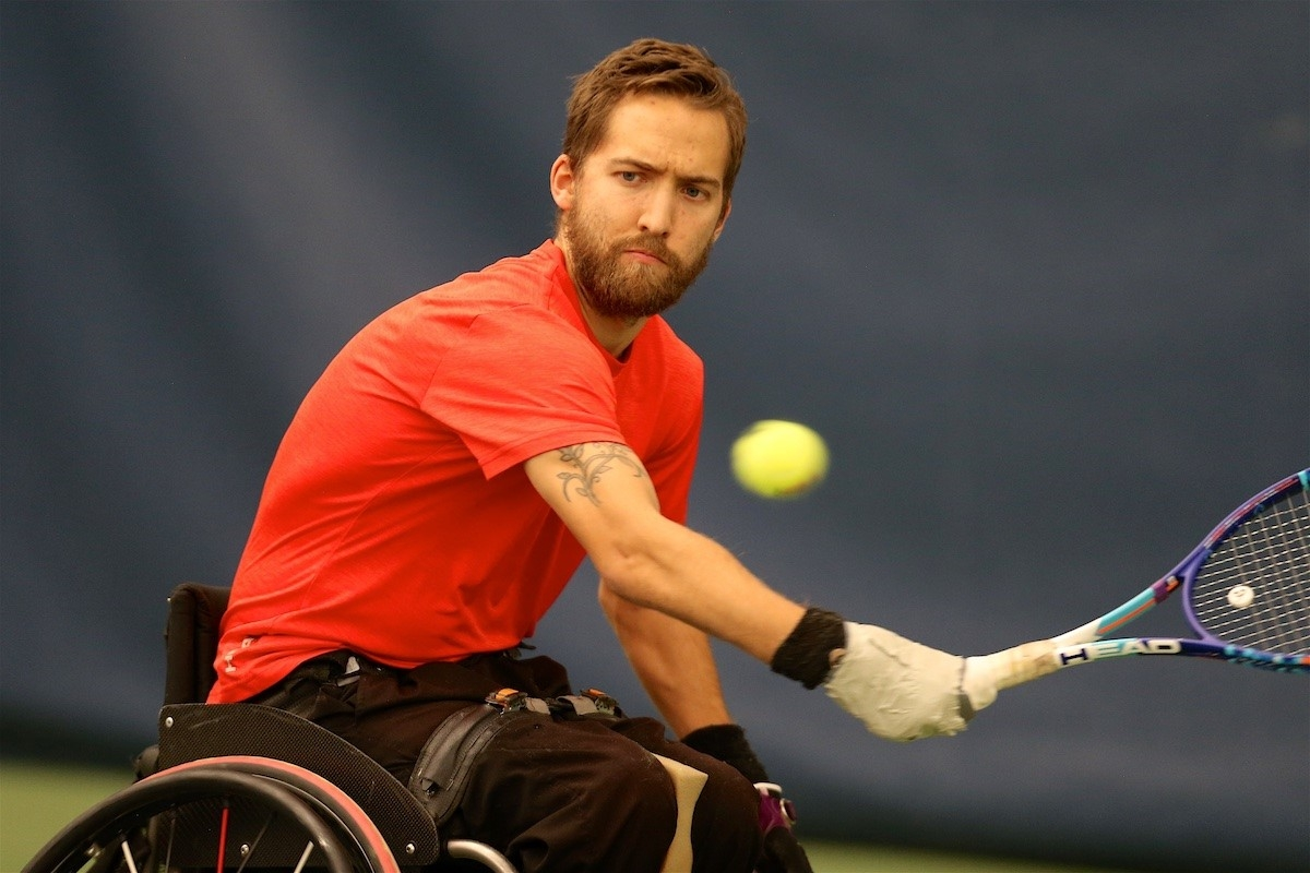 Rob Shaw competes at the wheelchair tennis national championships.