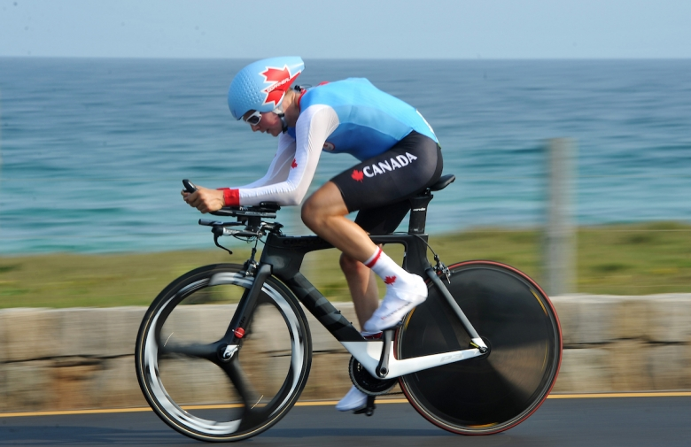 Michael Sametz competes in road cycling at the Rio 2016 Paralympic Games