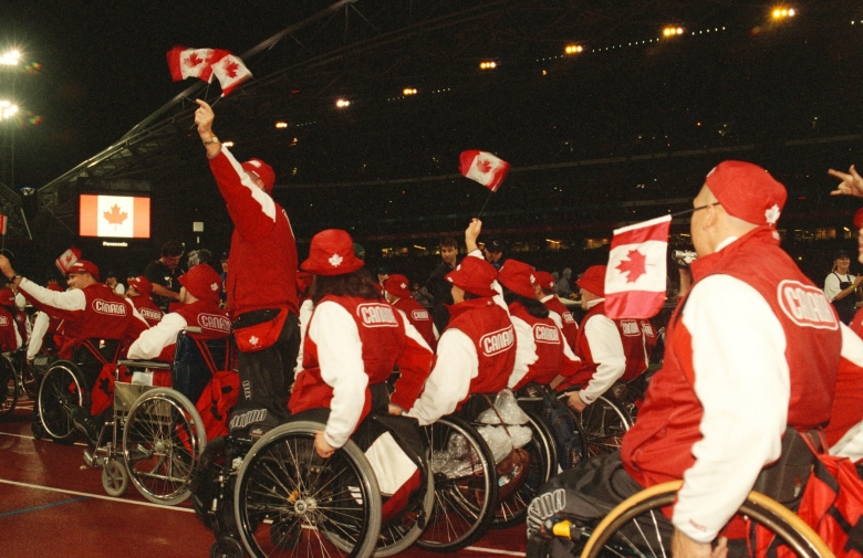 Canada enters the stadium for the Sydney 2000 Paralympic Games Opening Ceremony.