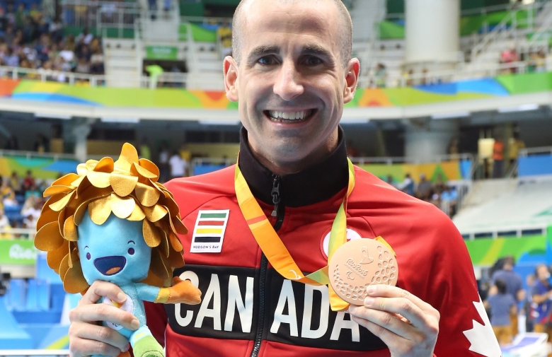 Benoit Huot with his bronze medal at the Rio 2016 Paralympic Games